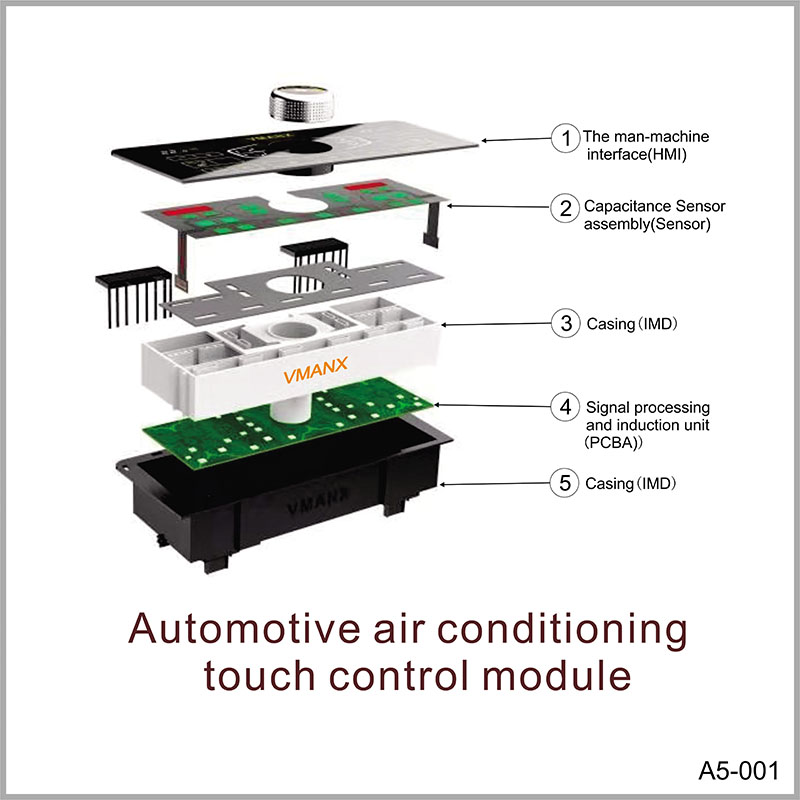 Automotive air conditioning touch control module