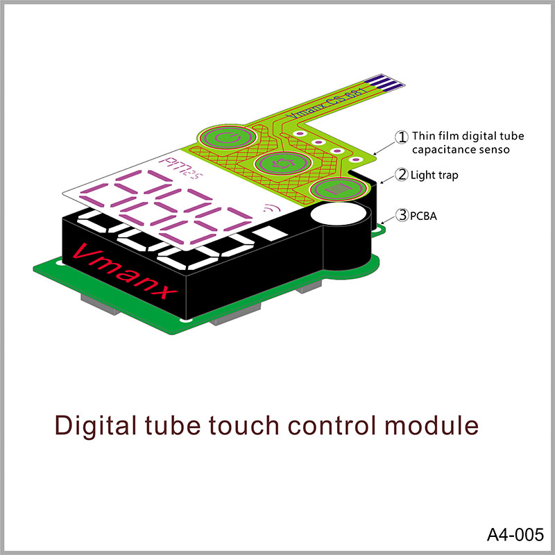 Digital tube touch control module