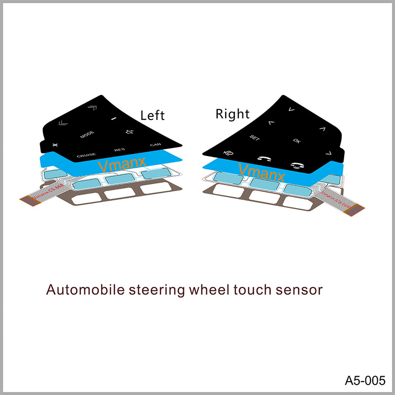 Automobile steering wheel touch sensor