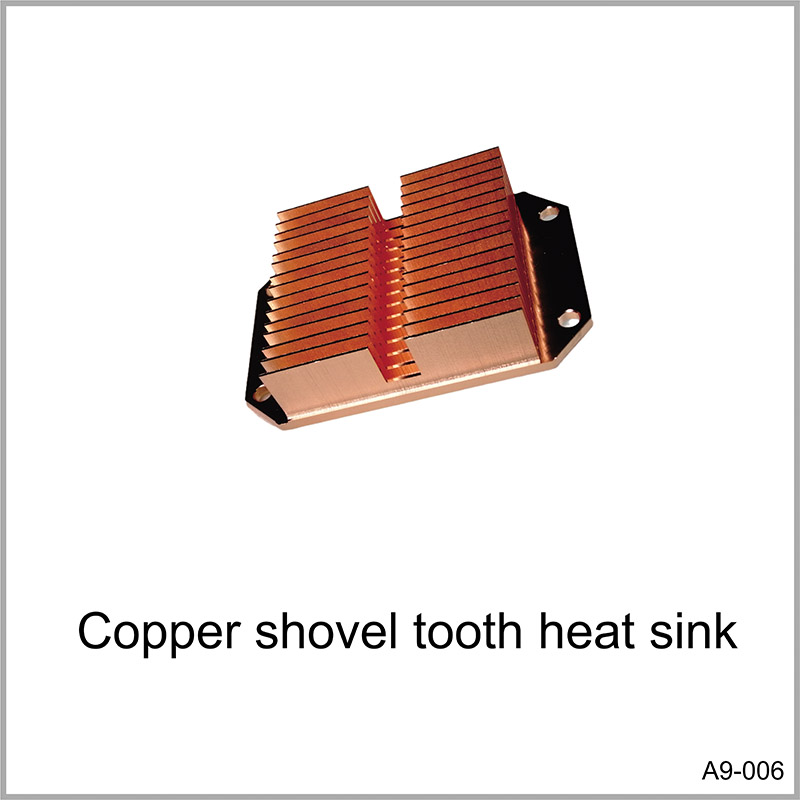 Copper shovel tooth heat sink