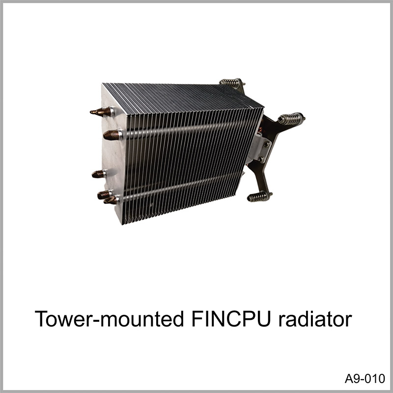 Tower-mounted FINCPU radiator