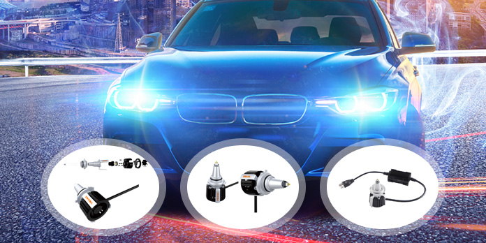 Led car lights application