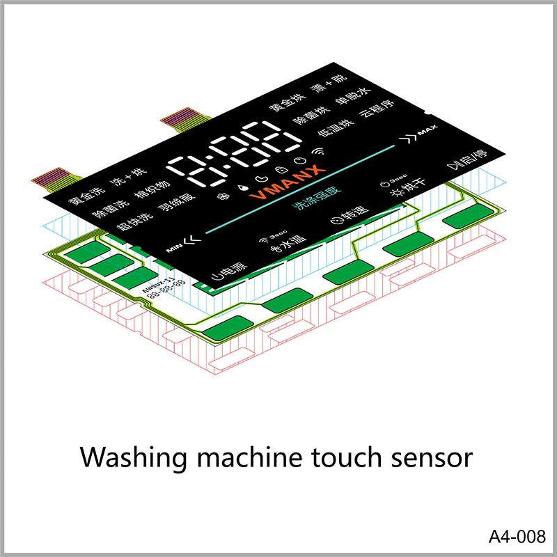Washing machine touch sensor