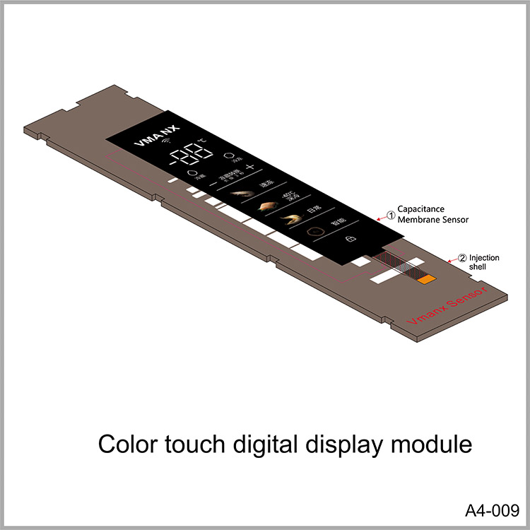 Color touch digital display module